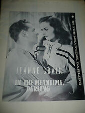 IN THE MEANTIME DARLING, orig uncut 6pg NTA prbk [Jeanne Crain, Frank Latimore]
