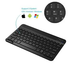 Bluetooth Keyboard Built-in Rechargeable Battery for All iOS, Mac Android device