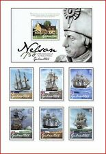 GIB0810 250th birthday of Horatio Nelson 6 pcs and block.