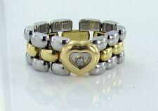 Chopard Kettenring Ring 750 Gold/Stahl mit Diamant 0,05 ct TW vvsi