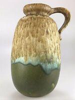 60er 70er Jahre Vase Blumenvase Keramik Henkelvase Grau Grün Space Age Design
