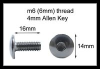 Honda Stainless Motorcycle Fairing Pan Head Allen Key Bolts m6 x 16mm - 10 Pack