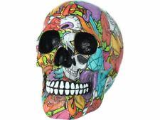 More details for calypso skull ornament colourful figure sculpture ornament 19cm