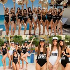 Team Bride Swimsuit BRIDE Squad Swimwear Hen Party Suits Bride Gang Monokini