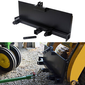 3-Point Attachment Adapter For Universal Skid Steer Quick-Attach Equipment