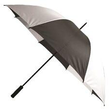 "39"" Golf Umbrella Black White Handheld Personal Rain Protection Safety Coverage"