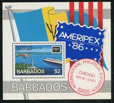 Barbados 1986 AMERIPEX S/S Sc# 686 NH