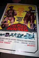 THE HILLS RUN RED Vintage Original 1967 Movie Poster Thomas Hunter Henry Silva