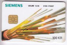 EUROPE  TELECARTE / PHONECARD .. DANEMARK 100KR  SIEMENS FIBRE OPTIQUE CHIP/PUCE