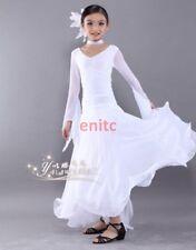 Hot Children's Latin Salsa Ballroom Dance Dress Girl Waltz Tango Dancewear S-888