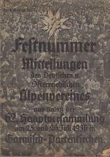 Festnummer der Mitteilungen des Deutschen u. Österreichischen Alpenvereins aus A
