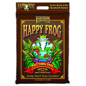 FoxFarm FX14054 Happy Frog Nutrient Rapid Growth Garden Potting Soil, 12 quart