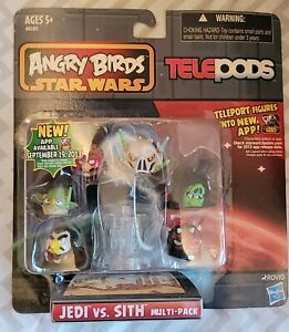 ANGRY BIRDS STAR WARS TELEPODS Jedi vs. Sith Multi-Pack Series 1 NEW/SEALED
