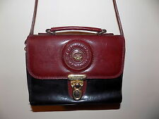 vintage oxblood red & black Chiltern Via Moda messenger shoulder bag
