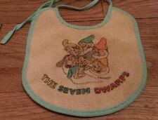 vintage Walt Disney Snow White and the Seven Dwarfs baby bib Dwarves Collectible