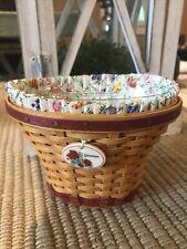 Longaberger Miniature Geranium Basket May Series Bonnie Longaberger Signature