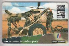 ARMEE ARMY  TELECARTE / PHONECARD .. FRANCE 5MN TICKET FT NIMES 30 NEUVE
