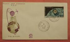 1962 ST PIERRE & MIQUELON SPACE FDC TELSTAR NICE CACHET