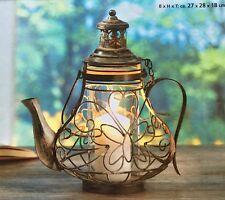 Laterne Windlicht Teekanne NEU aus Metall 28 cm gross