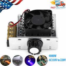4000w Ac110v To 220v Scr Voltage Regulator Motor Speed Control Unit With Fan Usa