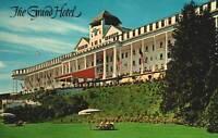 VINTAGE POSTCARD THE GRAND HOTEL AT MACKINAC ISLAND MICHIGAN CHROME