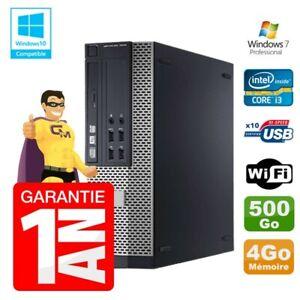 PC Dell 7010 SFF Intel I3-2120 RAM 4Go Disque 500Go DVD Wifi W7