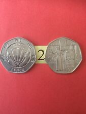 NHS 50th Anniversary 50p Fifty Pence Coin 1998. And 2003 Suffragette 50p.