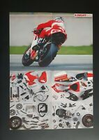 Publicidad Póster Ducati París Loris Capirossi Prospecto Folleto Plegable Moto