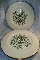Lenox Special Holiday Presidential Large Decal Gold Trim 3 Dinner Plates
