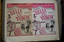 Belle of the Yukon Lot of 2 Sheet Music 1944 DINAH SHORE, GYPSY ROSE LEE