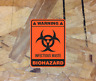 Warning Decal Biohazard Infectious Waste Cleanable Durable Vinyl Decal Sticker