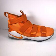 Nike Mens LeBron Soldier 11 Basketball Shoes 943155 805 Orange White High 13.5