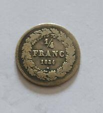 1/4 de franc belge Leopold I 1834 !(752.188expl.)