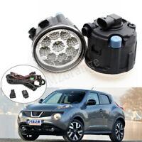 Fog Light Harness Switch LED For Nissan 11-14 Rogue Juke Cube Tiida Bumper Lamp