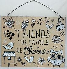 Les Amis Sont La Famille Nous Choisissons Plaque De Panneau Métallique Usé Chic