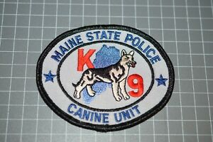 Maine State Police K-9 Unit Patch (B17-10)