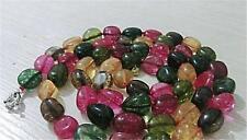 10x16 mm, multicolore,irrégulière,tourmaline,collier,86cm