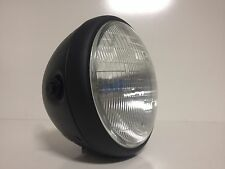 "All Steel 8"" motorcycle headlight Halogen Black Complete Bucket ready install!"