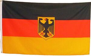 Deutschland Fahne mit Adler, groß 150cm x 90cm Neu Flagge #106 Germany