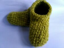 Women crochet slippers Size 7 USA/Yellow, Indoor crochet slippers, House shoes