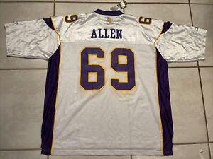 NWT Vintage REEBOK Minnesota Vikings Jared Allen WHITE NFL Jersey Men's 3XL