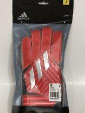 Adidas Men GK NMZ Training Goalkeeper Gloves Red Football GYM Goalie DY2589 New