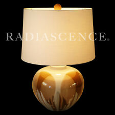 LARGE ATOMIC MODERN DRIP GLAZE DAVID CRESSEY CERAMIC SCULPTURE TABLE LAMP 1960'S