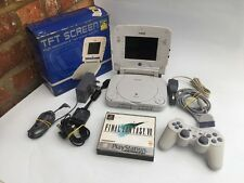 Sony PsOne ps1 console & Boxed Logic 3 screen - Working With Final Fantasy 7