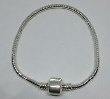 1 x Silver Plated Snake Chain Bracelet 18.5 cm approx for Charms and Beads