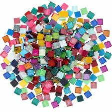 500Pcs DIY Glitter Crystal Mosaic for Home Decoration Crafts Supply,1 by 1 cm