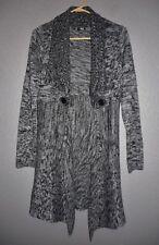 Allison Brittney Long Sleeve Open Front Cardigan Acrylic Space Dye Sweater SZ M