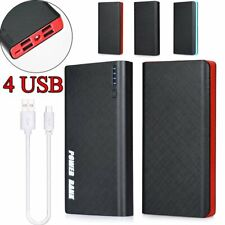 900000mAh 4 USB Backup External Battery Phone Power Bank Pack Charger Grand US