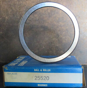 BRAND NEW BALL & ROLLER DIFFERENTIAL AXLE BEARING RACE 25520 FITS *SEE CHART*