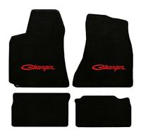 NEW Black Floor Mats 1996-1998 Dodge Viper Red Embroidered Logo Snake Head GTS